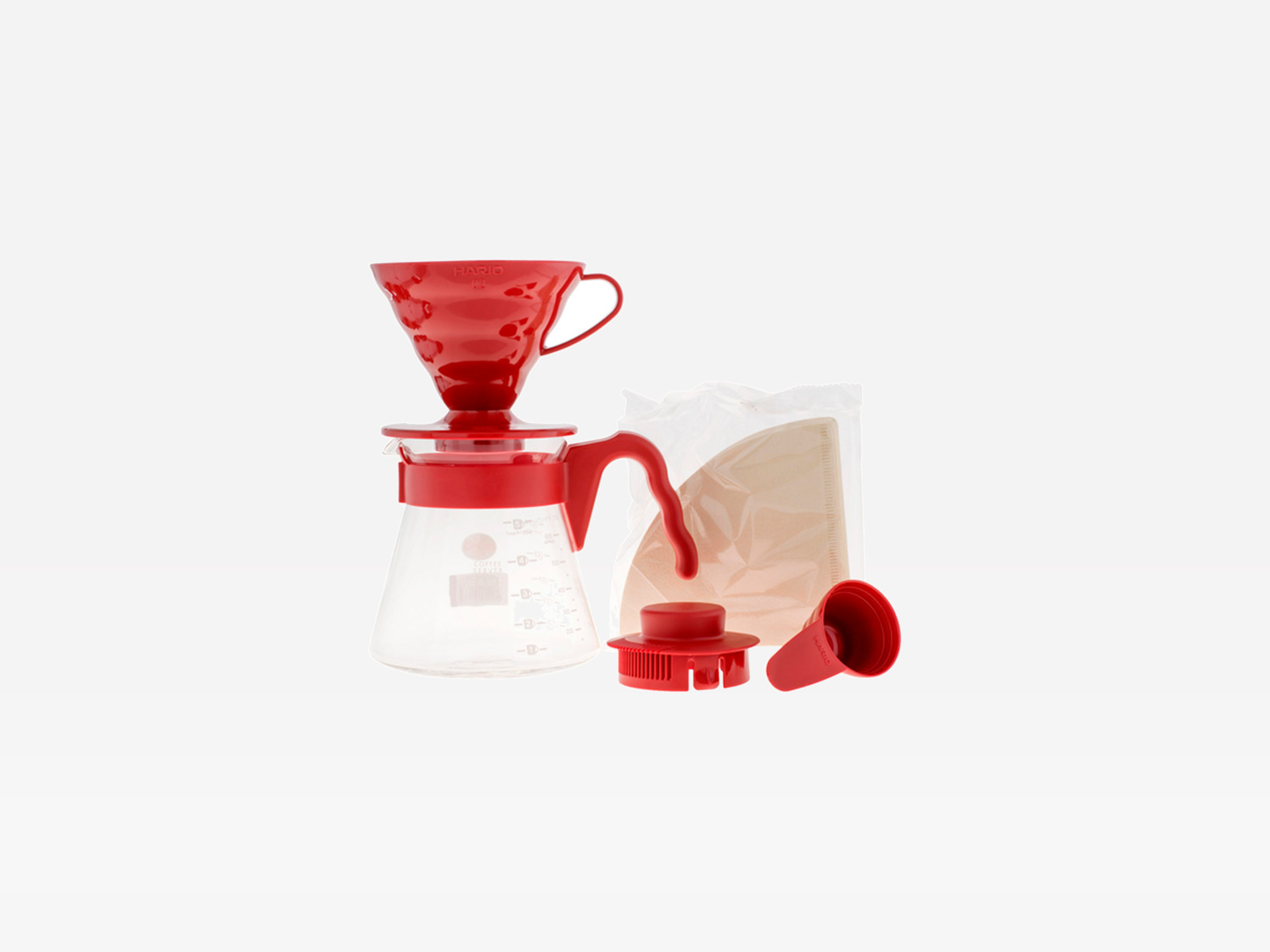 Hario V60 Pour Over Set - Red
